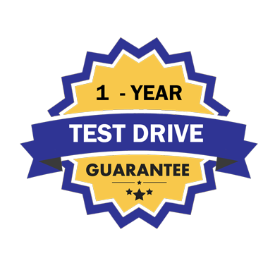 quality comfort 1 year test drive guarantee